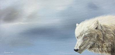 White Wolf Poster by Laurianna Taylor