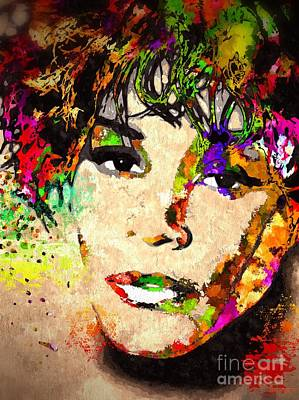 Whitney Houston Poster by Daniel Janda