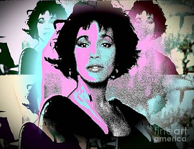 Whitney Houston Sing For Me Again Poster by Saundra Myles