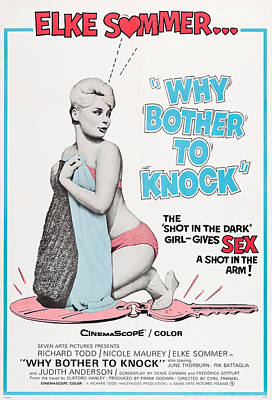 Why Bother To Knock, Aka Dont Bother To Poster by Everett