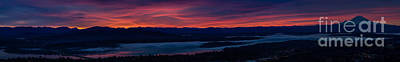 Wide Seattle Eastside Sunrise Pano Poster by Mike Reid