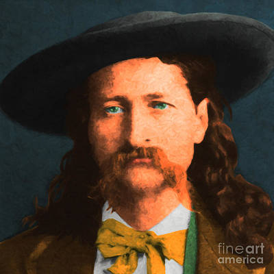 Wild Bill Hickok 20130518 Square Poster by Wingsdomain Art and Photography