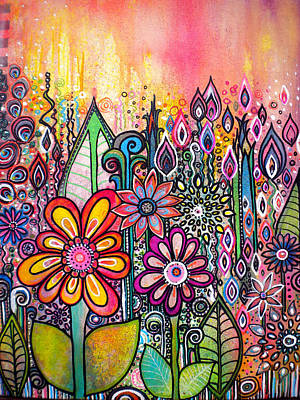 Wild Flowers Poster by Robin Mead