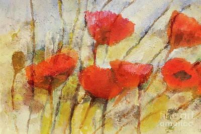Wild Poppies Poster by Lutz Baar