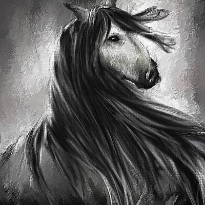 Wild Soul- Fine Art Horse Artwork Poster by Lourry Legarde