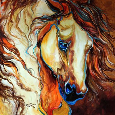 Wild West Buckskin Poster by Marcia Baldwin