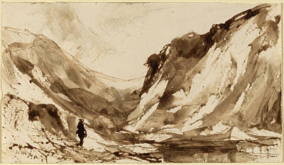 William Hart, Deep Valley In Mountainous Landscape Poster by Quint Lox