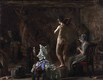 William Rush Carving His Allegorical Figure Of The Schuylkill River Poster by Thomas Eakins
