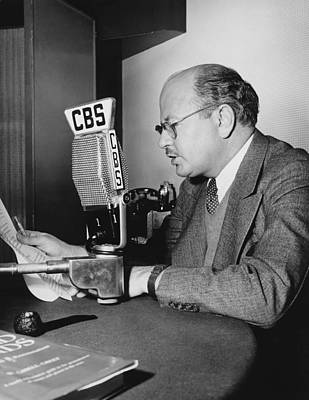 William Shirer At Cbs Poster by Underwood Archives