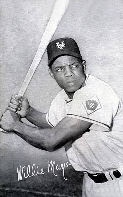 Willie Mays  Poster Poster by Gianfranco Weiss
