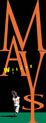 Willie Mays Poster by Ron Regalado