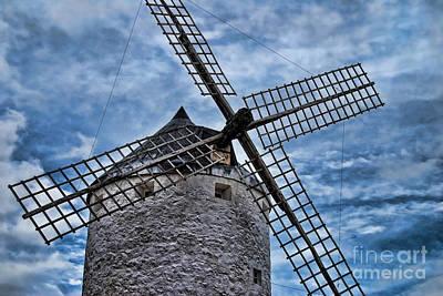 Windmill Of La Mancha Poster by Alexandra Jordankova