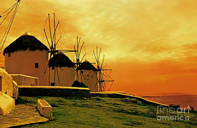 Windmills Of Mykonos Poster by Madeline Ellis