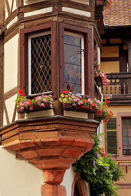 Window And Flower Boxes In Kaysersberg Poster by Brian Jannsen