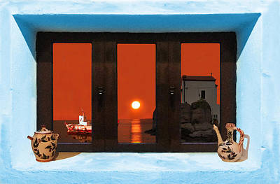 Window Into Greece 4 Poster by Eric Kempson