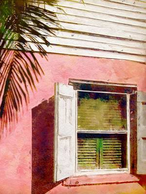 Window Of Pink Island House - Vertical Poster by Lyn Voytershark