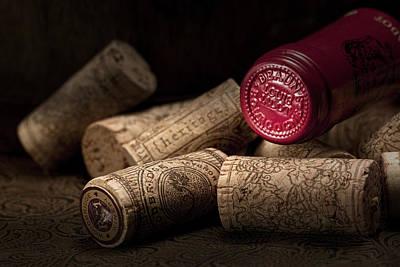Wine Corks Still Life Iv Poster by Tom Mc Nemar