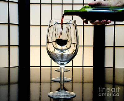 Wine For Three Poster by John Debar