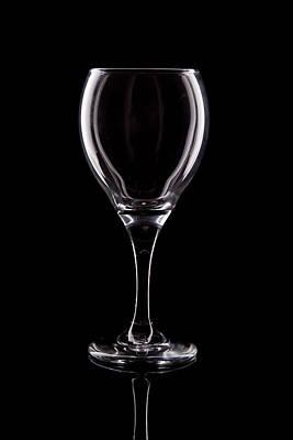 Wineglass Poster by Tom Mc Nemar