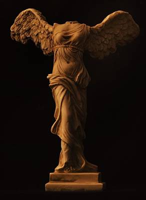 Winged Victory Of Samothrace Poster by Joseph Pugliese