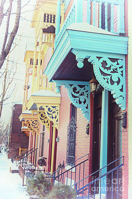 Winter Balconies In Montreal Poster by Jane Rix