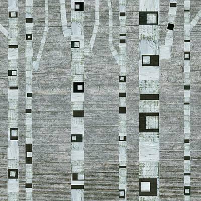 Winter Birches Poster by Michelle Calkins