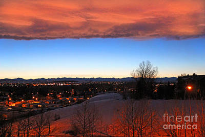 Winter Chinook Sunset Over The Rocky Mountains Poster by Al Bourassa