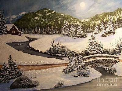 Winter Dreams Poster by Peggy Miller