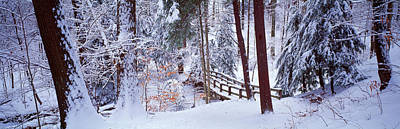 Winter Footbridge Cleveland Metro Poster by Panoramic Images
