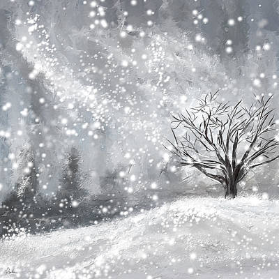 Winter- Four Seasons Painting Poster by Lourry Legarde