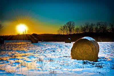 Winter Harvest Landscape Poster by Gary Keesler