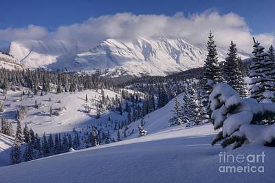 Winter In Banff Poster by Dan Jurak