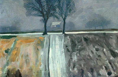 Winter In Elkenrade Poster by Nop Briex