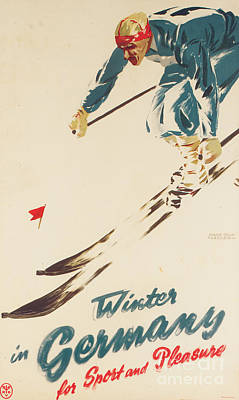 Winter In Germany Poster by H Plessen