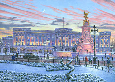 Winter Lights Buckingham Palace Poster by Richard Harpum