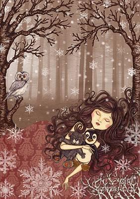 Winter Lullaby Poster by Snezana Kragulj