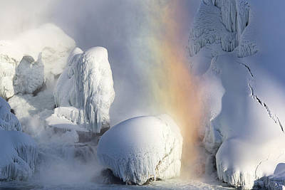 Winter Magic In Niagara Poster by Magda  Bognar