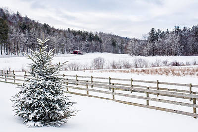 Winter Morn On The Farm Poster by Rob Travis