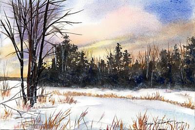 Winter Pond Poster by Laura Tasheiko