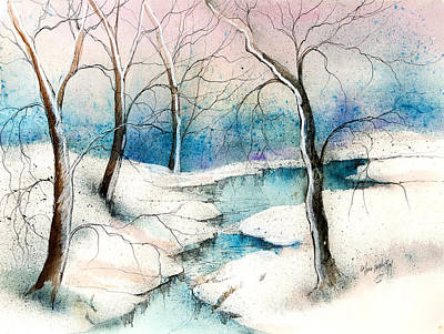 Winter Ponds  Poster by Anna Sandhu Ray