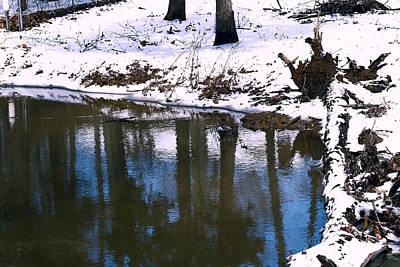 Winter Reflections - Lakeside Winter Landscape Poster by Barry Jones