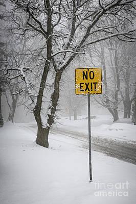 Winter Road During Snowfall IIi Poster by Elena Elisseeva