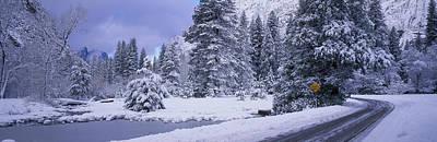 Winter Road, Yosemite Park, California Poster by Panoramic Images