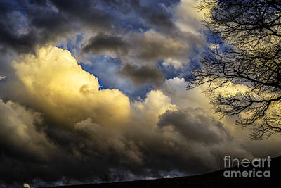 Winter Sky Drama Poster by Thomas R Fletcher