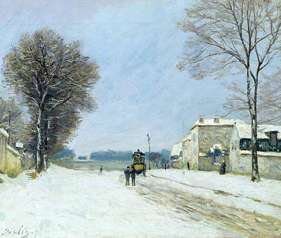 Winter, Snow Effect, 1876  Poster by Alfred Sisley