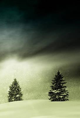 Winter Snow Globe Poster by Michael Huddleston