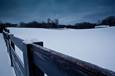 Winter Snow On Farm Poster by John Magyar Photography