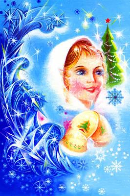 Winter Stars Poster by Munir Alawi