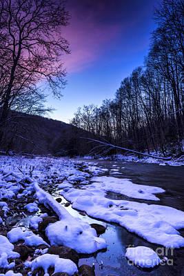 Winter Sunrise Cranberry River Poster by Thomas R Fletcher