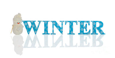 Winter With Snowman Poster by Amanda And Christopher Elwell